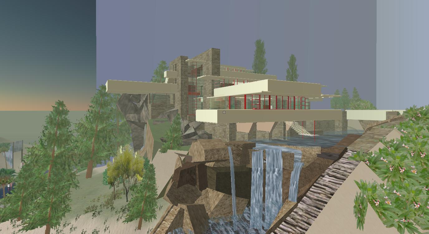 T6 experience architecturale second life archives du - La maison sur la cascade frank lloyd wright ...